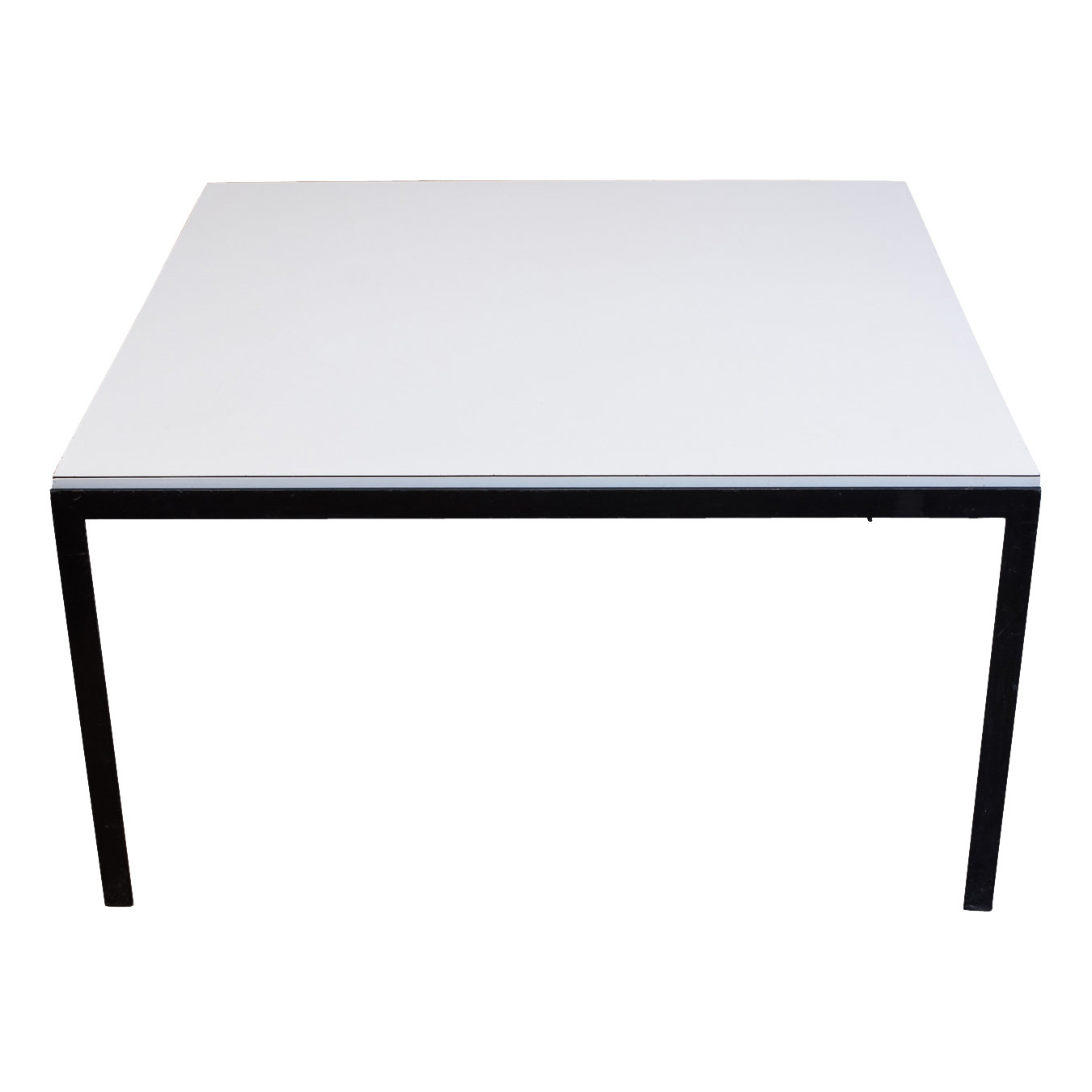 Knoll Square T Angle Coffee Table With White Formica Top