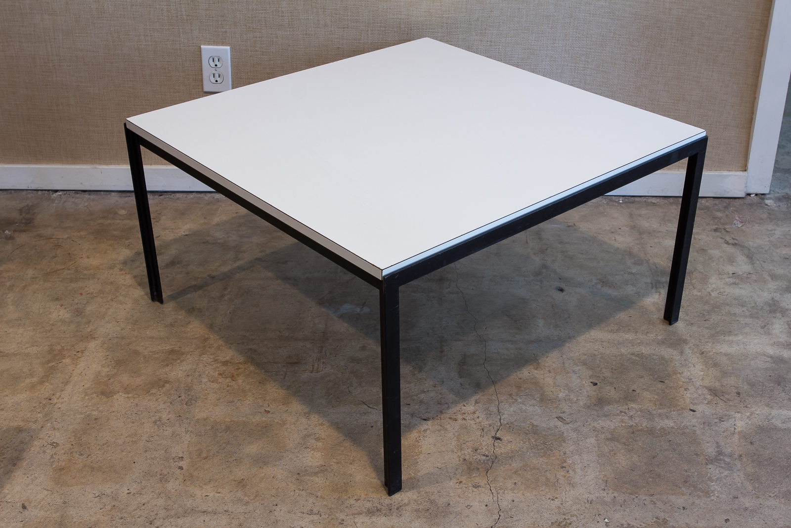 Charming Knoll Square T Angle Coffee Table With White Formica Top